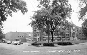 F24/ Washington Iowa Real Photo RPPC Postcard c40s High School