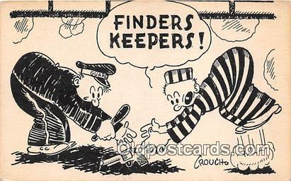 Finders Keepers  Prison Postcard Post Card Postcard Post Card Finders Keepers