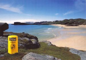 Visit Scotland Advertising Media Postcard, Bin Your Stress, Beach T86