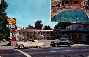 California Sacramento The Mardigras Motel 1964