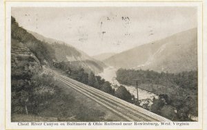 ROWLESBURG , West Virginia , 00-10s ; Railroad Tracks , Cheat River Canyon