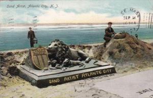 New Jersey Atlantic City The Sand Artist 1907