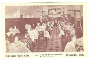 Interior, The New York Cafe, Ontario , Canada, 20-40s