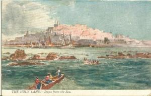 Israel, The Holy Land, Jaffa, Joppa from the Sea, early 1...