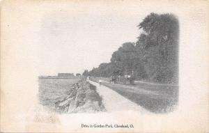 Cleveland Ohio~Drive In Gordon Park~Kids on Path~Plain Dealer~1906 Vignette PC