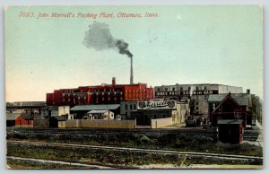 Ottumwa Iowa Pride Ham & Bacon~Morrell Meat Packing Plant~Railroad Tracks c1910