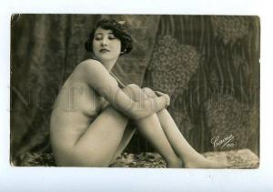 129032 NUDE Woman BELLE vintage Real PHOTO CORONA #157 PC