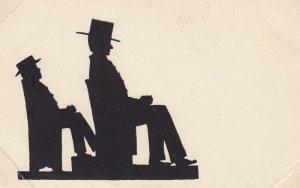 Silhouette , 2 men , 00-10s