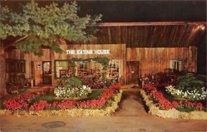 Conway New Hampshire~The Eating House Restaurant~Mt Cranmore Base~1950s Postcard