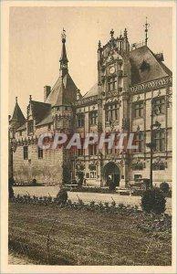 Postcard Old Chateau Loire Saumur (Maine et Loire) The City Hotel