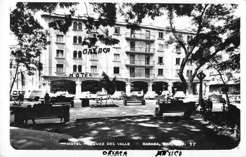 Oaxaca Mexico Hotel Marquez Del Valle Real Photo Antique Postcard K11876