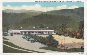 WHITE SULPHUR SPRINGS, West Virginia, PU-1936; Casino, Classic Cars