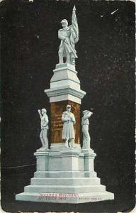 D/B Soldiers Monument Jefferson Wisconsin WI 1943