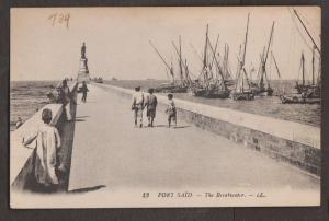View Of The Breakwater Port Said, Egypt - Unused - Old Ships