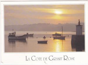 Postcard France Brittany Image du Pays Breton La Cote de Granit Rose