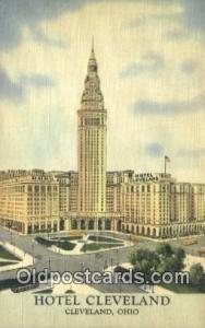 Hotel Cleveland, Cleveland, Ohio, OH USA Hotel Postcard Motel Post Card Old V...