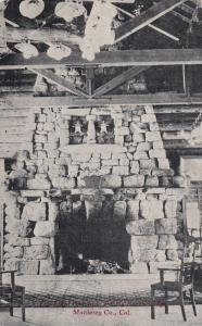 MONTEREY, California, 1900-1910's; The Giant Fire Place, Pebble Beach Lodge
