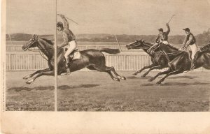 Horse racing scene Nice vintage  French postcard