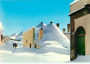 Alberobello Italy Snow Drift  Covered Houses Cold Winter  Postcard  # 8285
