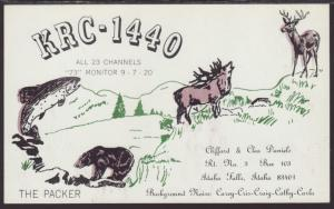 KRC-1440 Daniels  Idaho Falls,ID QSL Card
