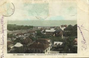 reunion, SAINT DENIS, Panorama de la Riviere (1910)