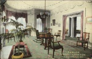 Washington DC Parlor Hotel Grafton c1910 Postcard