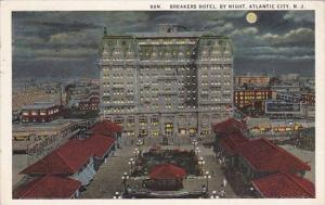 New Jersey Atlantic City Breakers Hotel By Night1929