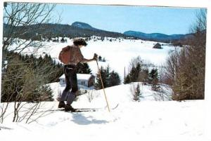 Scenic View from one of the many cross country ski trails, Ste-Agathe-des-Mon...