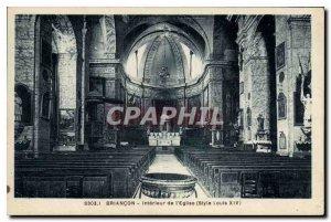 Old Postcard Briancon Interior of the Church
