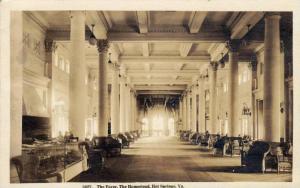 RP  Interior, The Foyer, The Homestead, Hot Springs, Virginia, PU-1920