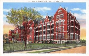 Dallas Texas~St Pauls Sanitarium~1940 Postcard