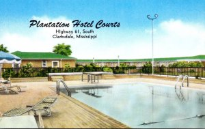 Mississippi Clarksdale Plantation Hotel Courts Swimming Pool Highway 61 South