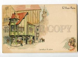 251318 PARIS Carrefour St. Julien SHOPS by ROBIDA Vintage PC