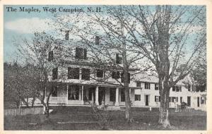 West Campton New Hampshire The Maples Exterior Scenic Antique Postcard K18278