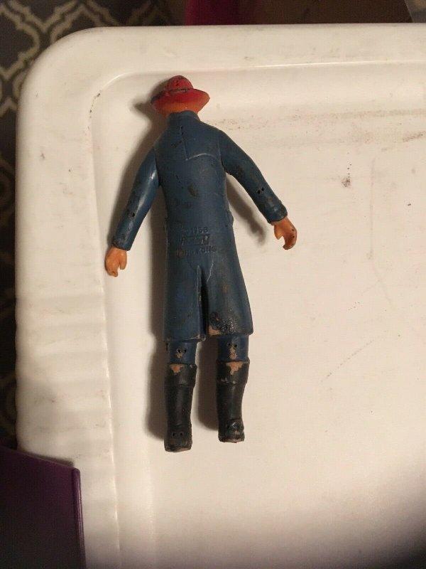 1968 Buddy L Fireman  5 Rubber figure, Made in Hong Kong