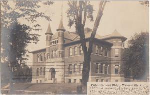 Ohio Real Photo RPPC Postcard 1907 WESTERVILLE Public School Building
