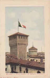 Primi restauri al Castello Storzesco,Milano, Lombardia, Italy, 00-10s