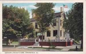 Illinois Springfield Abraham Lincolns Home 1925