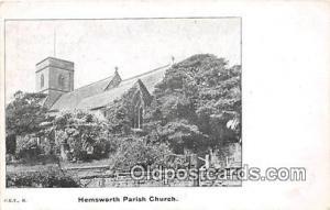 Churches Vintage Postcard Vintage Postcard Hemsworth Parish Church