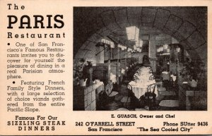 California San Franciso The Paris Restaurant