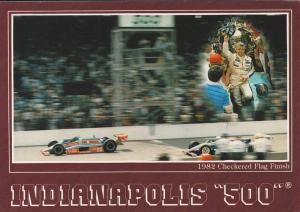 Checkered Flag Finish, Indianapolis 500 Indianapolis, Indiana,   1982