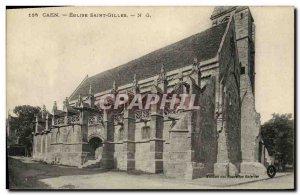 Old Postcard Caen Old Saint Gilles