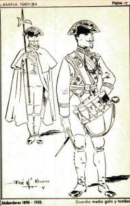 Military Alabarderos 1890 1920 Tambor 02.15