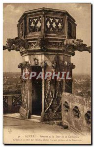 Old Postcard Nevers Summit Tower of the Cathedral