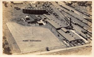 ROUNDHOUSE, UNIDENTIFIED LOCATION-1920'S ERA RPPC REAL PHOTO POSTCARD