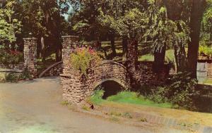 Richmond Indiana~Rustic Bridge Glen Miller Park~1960 Postcard