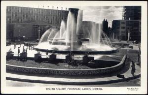 nigeria, LAGOS, Tinubu Square Fountain (1950s) RPPC