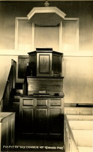 Canada - Nova Scotia, Grand Pre. Pulpit in Old Church     *RPPC