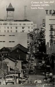 costa rica, C.A., SAN JOSÉ, Avenida Central, Cars (1958) Foto-Coto RPPC