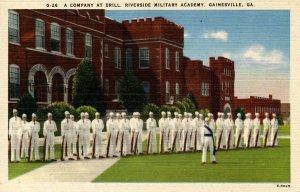 GA - Gainesville. Riverside Military Academy, Company at Drill
